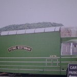 The Vintage Mobile Cinema as the Flying Scotsman